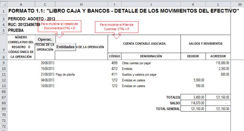 CAJA | Archivo Excel