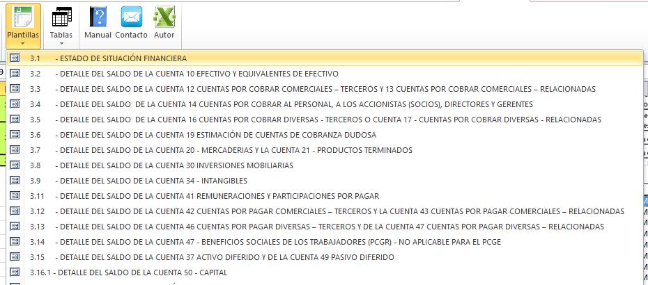 CURSO TALLER DE PLE INVENTARIOS Y BALANCES V 5.0.0.6 | Archivo Excel