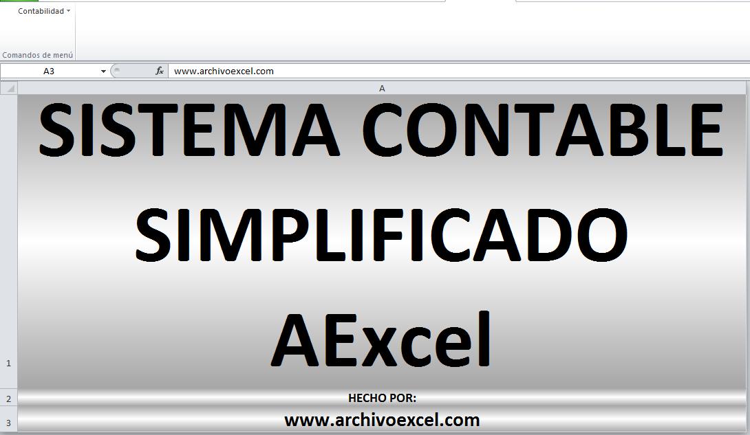 SISTEMA CONTABLE SIMPLIFICADO – APLICATIVO EN EXCEL | Archivo Excel