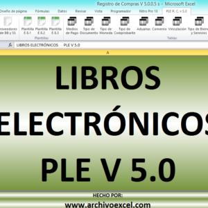 PLE COMPRAS (LIBRO ELECTRÓNICO SUNAT) – PLANTILLA EN EXCEL