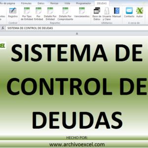 CONTROL DE DEUDAS – APLICATIVO EN EXCEL
