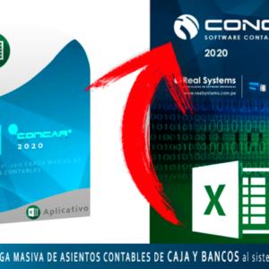 CARGA MASIVA DE ASIENTOS CONTABLES DE CAJA – BANCOS (COBROS Y PAGOS) DESDE EL EXCEL HACIA EL CONCAR CB o SQL