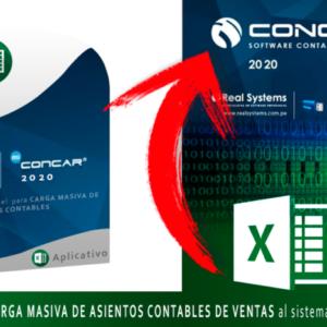 CARGA MASIVA DE ASIENTOS CONTABLES DE VENTAS DESDE EL EXCEL HACIA EL CONCAR CB o SQL